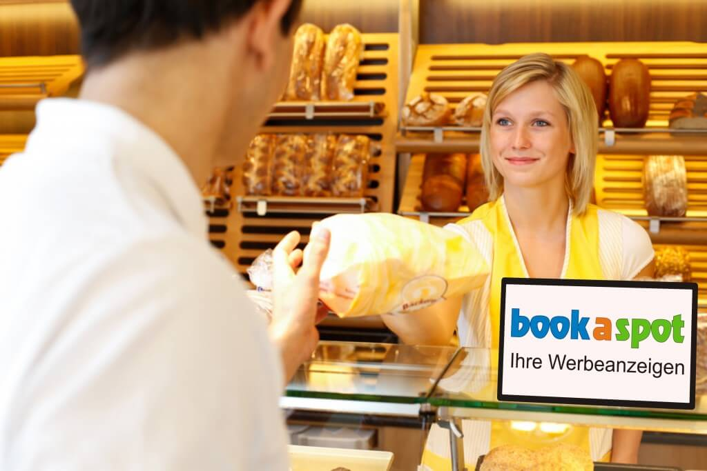Digital Signage-Bäckerei